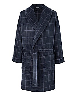 Capsule Navy Check Dressing Gown