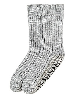 Capsule Grey Slipper Socks