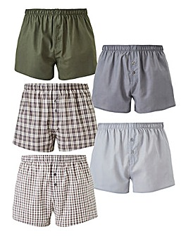 b9abc6c960b Pack of 5 Woven Boxers