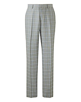 Light Grey Check Henry Suit Trousers