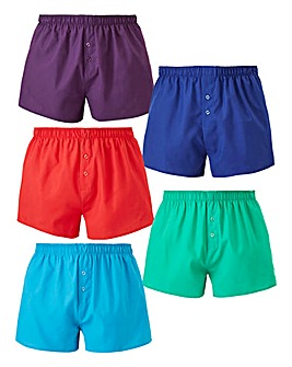 Capsule Pack of 5 Woven Boxers