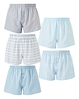Pack of 5 Woven Boxers