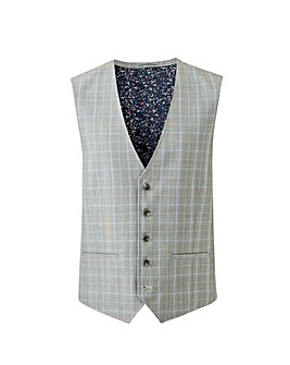 Light Grey Check Henry Suit Waistcoat