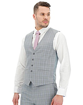 Light Grey Check Henry Suit Waistcoat