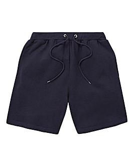 Navy Fleece Jog Shorts