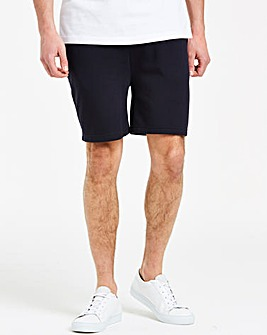 Navy Fleece Jog Shorts