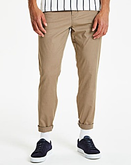 Capsule Dark Stone Regular Fit Stretch Chinos 31 inch