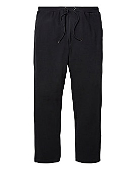 Black Straight Jog Pants 29in