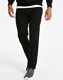 Black Straight Jog Pants 27in