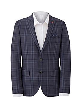 W&B LONDON Blue Check Suit Jacket