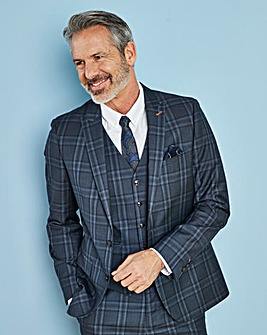 W&B LONDON Blue Check Suit Jacket