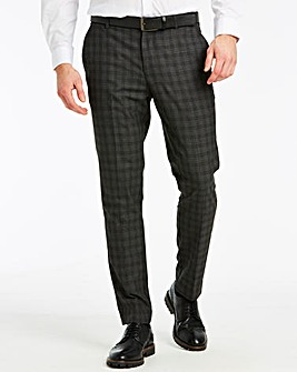 Black Check Slim Trousers