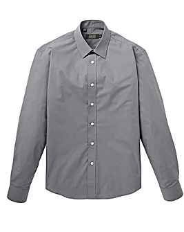 Dark Grey Long Sleeve Formal Shirt Regular