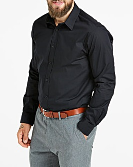 Black Long Sleeve Formal Shirt Regular