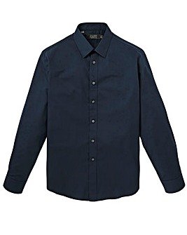 W&B London Navy L/S Formal Shirt R