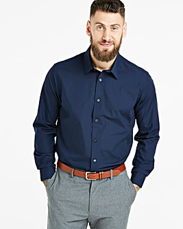 Navy Long Sleeve Formal Shirt Long