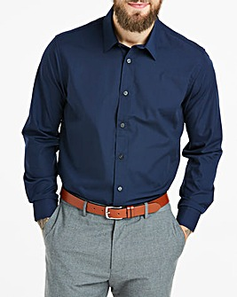 Navy Long Sleeve Formal Shirt Regular