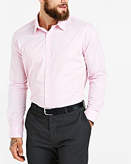 Pink Long Sleeve Formal Shirt Regular