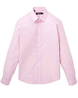 Pink Long Sleeve Formal Shirt Long