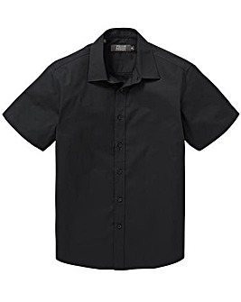 Black Short Sleeve Formal Shirt Long