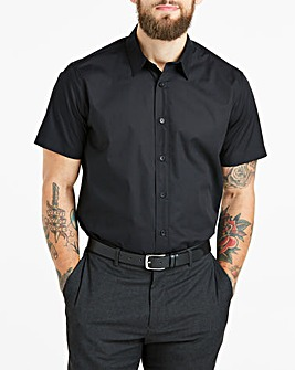Black Short Sleeve Formal Shirt Regular