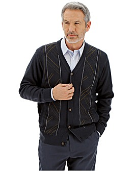 Jacquard Button Cardigan