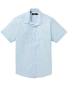 Blue Short Sleeve Formal Shirt