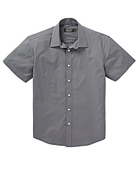 W&B London Dark Grey S/S Formal Shirt L