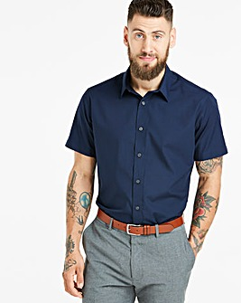 Navy Short Sleeve Formal Shirt