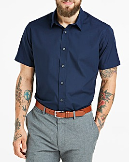 Navy Short Sleeve Formal Shirt Regular