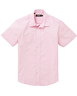 Pink Short Sleeve Formal Shirt Regular