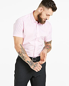 Pink Short Sleeve Formal Shirt Long