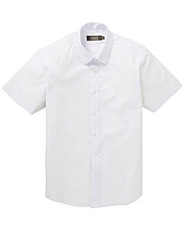 White Short Sleeve Formal Shirt Long