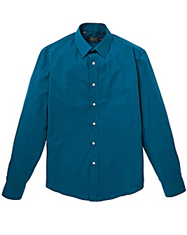 W&B Teal London L/S Formal Shirt R