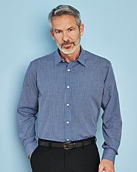 W&B London Blue Check L/S Formal Shirt R