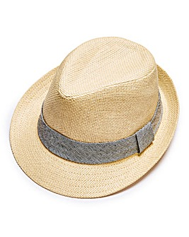 Capsule Off White Trilby Hat