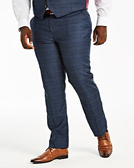 Navy Check Ben Suit Trousers