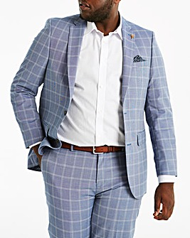 Delta Blue Check Suit Jacket