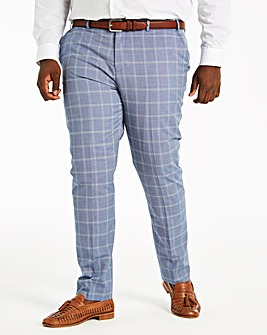 Delta Blue Check Suit Trousers
