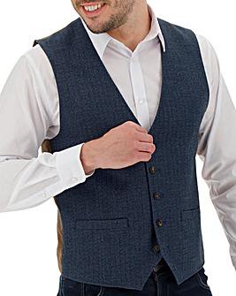 Navy Buxton Herringbone Waistcoat