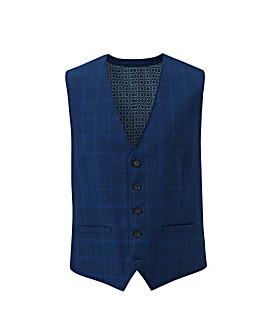 Navy Check Ben Suit Waistcoat