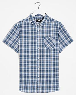Short Sleeve Summer Check Brushed Shirt