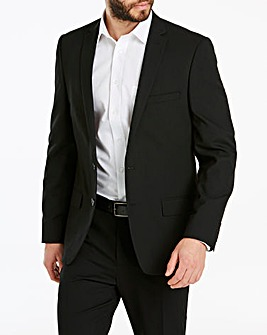 Black Stretch Travel Suit Jacket