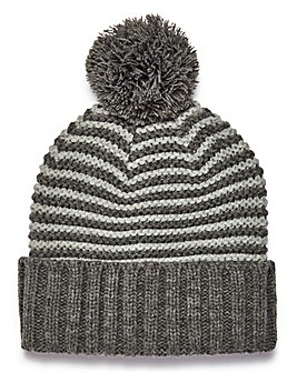 Jack & Jones Grey Stripe Beanie