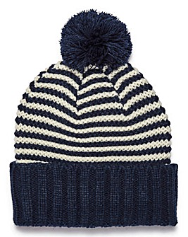 Jack & Jones Navy Stripe Beanie
