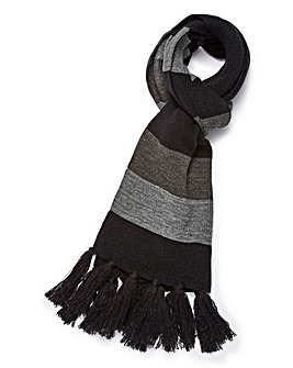 Jack & Jones Black Stripe Scarf