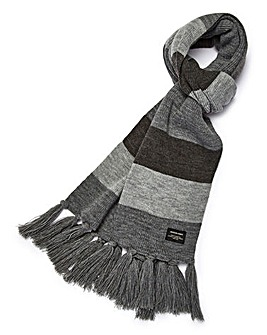 Jack & Jones Grey Stripe Scarf