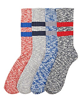 Capsule Pack of 4 Twisted Sport Socks