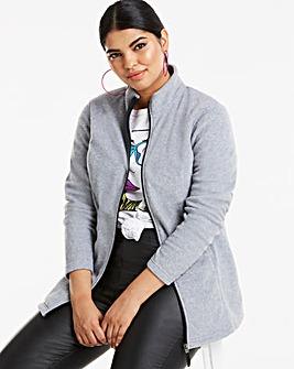 Grey Marl Fleece Jacket