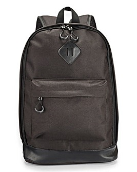Capsule Black Plain Back Pack